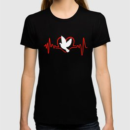 I Love Pigeons Heartbeat T-shirt