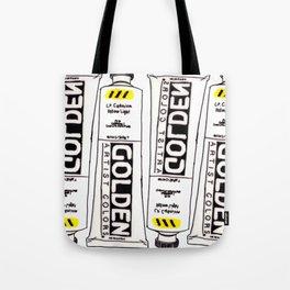 Cadmium Yellow Light Paint tube Tote Bag