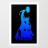 thor Art Prints featuring Thor by Sport_Designs