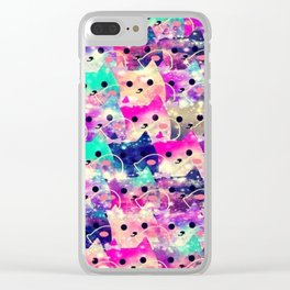 cats-72 Clear iPhone Case