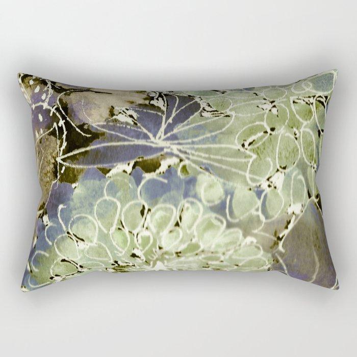 The Changing Colors of Succulents - 1 Rectangular Pillow