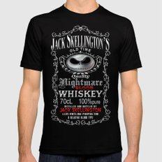 Halloween Parody Nightmare jack skellington Black MEDIUM Mens Fitted Tee