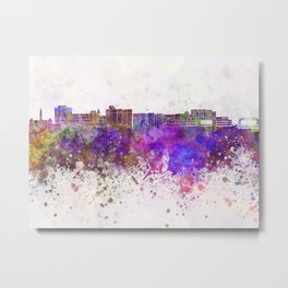 Duluth skyline in watercolor background Metal Print