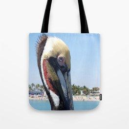 Fort Lauderdale Pier Pelican Tote Bag