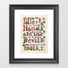 Devil's Tools Framed Art Print