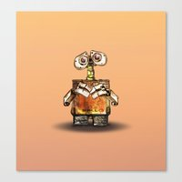 wall e Canvas Prints featuring Wall-E by Naadi