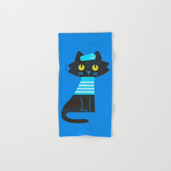 Fitz - Sailor cat Hand & Bath Towel