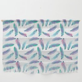 Watercolor Feathers Wall Hanging