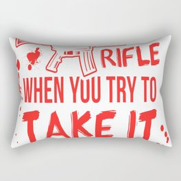 Assault Rifle Rectangular Pillow
