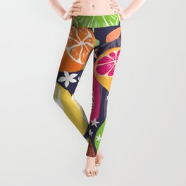 Tropical fruit pattern 01 Leggings