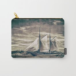 Sailing Yacht Wooden Schooner Carry-All Pouch