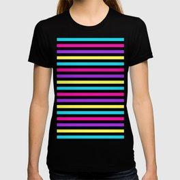 Black Rainbow Stripes T-shirt