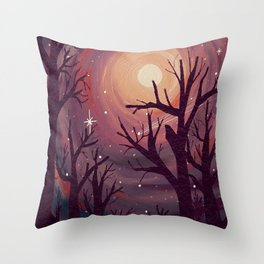Pinky Night Under The Stars Throw Pillow