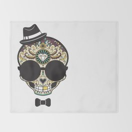 Blind Sugar Skull Throw Blanket