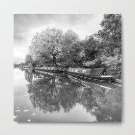 Narrow Boats Grand Union Canal Metal Print