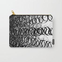 Black Spiral Swirls Carry-All Pouch