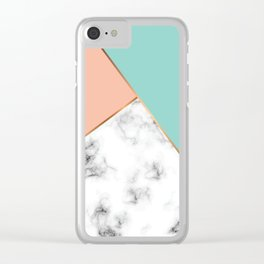 Marble Geometry 056 Clear iPhone Case