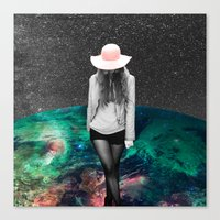 alone Canvas Prints featuring Alone by Cs025