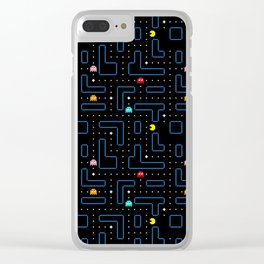 Pac-Man Retro Arcade Gaming Design Clear iPhone Case