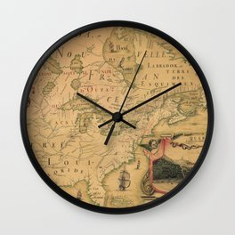 Northenmost America 1688 Wall Clock