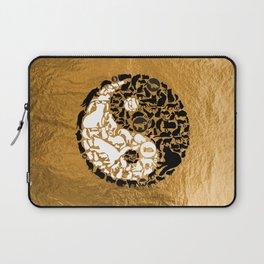 Yin-Yang Cats - Gold Laptop Sleeve
