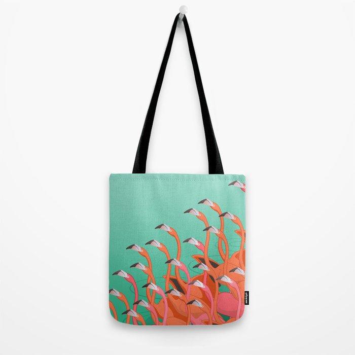 Fresco of the flamingoes. Tote Bag