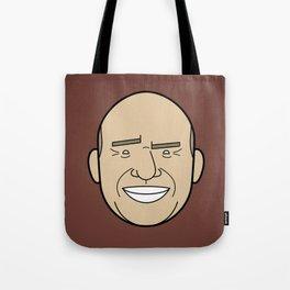 Faces of Breaking Bad: Hank Schrader Tote Bag