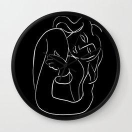 Matisse Line art Woman Black Wall Clock
