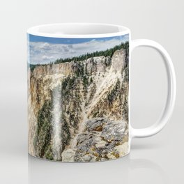 Grand Canyon of Yellowstone River and Lower Falls from Artist Point Coffee Mug