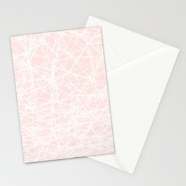 Contemporary  White Line Art on Pink-Mix & Match with Simplicity of life Stationery Cards