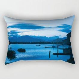 BLUE VIETNAMESE MEDITATION Rectangular Pillow