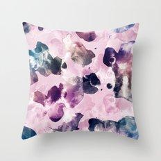 Ink Blooms Throw Pillow