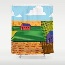 Campi (Fields) Shower Curtain