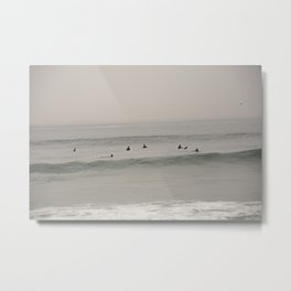 Waiting for the wave. Metal Print