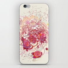 Floral universe orbit iPhone & iPod Skin