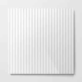 Vintage white gray elegant stripes pattern Metal Print