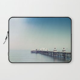 Blackpool pier and coast on a sunny July morning. Laptop Sleeve