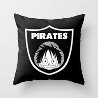 pirates Throw Pillows featuring Pirates  by Buby87