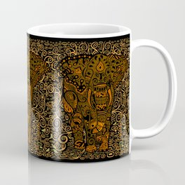 Aztec Elephant With Floral Pattern Coffee Mug