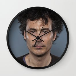 guy dude man look hair Wall Clock