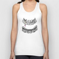 tooth Tank Tops featuring Sweet Tooth by Corinne Elyse