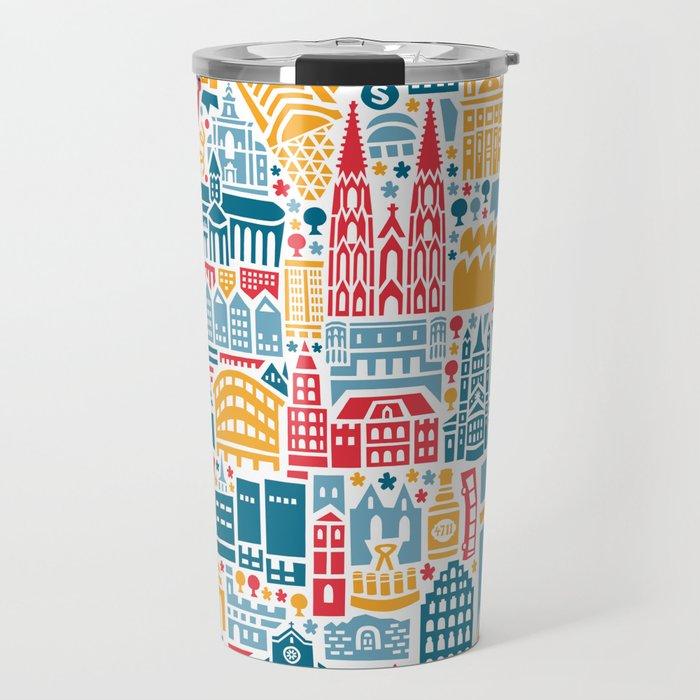 Cologne City Map Poster Travel Mug by vianina | Society6