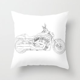 a motorcycle Throw Pillow
