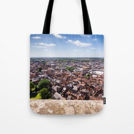 View of York from York Minster Cathedral tower Tote Bag