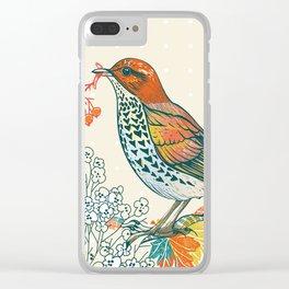 Orange Bird Clear iPhone Case