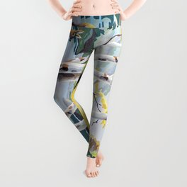 Paint by Numbers Deer Woodland Scene Leggings