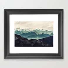 Shades of Mountain Framed Art Print