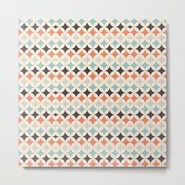 Modern Geometric Pattern Art Design Metal Print