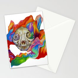 Tripping Cat Skull Stationery Cards