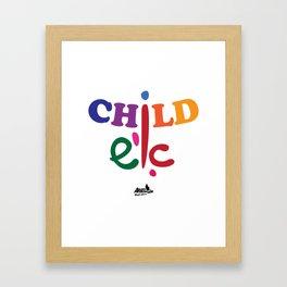 Child איש = childish Framed Art Print